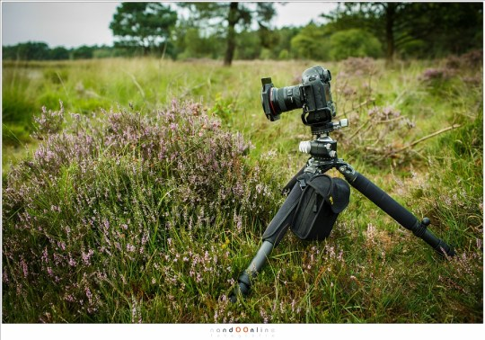 Testopstelling voor het testen van het vignet op 16mm bij minimale en maximale focusafstand ingesteld
