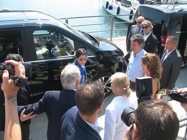 21.05.2015 visita principessa Thailandia Acquario di Genova saluto Beppe Costa
