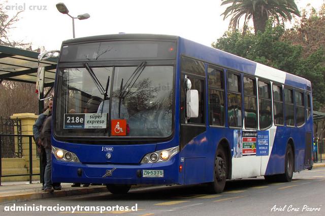 Transantiago - Subus Chile - Caio Mondego L / Volvo (ZN5375) (7048)
