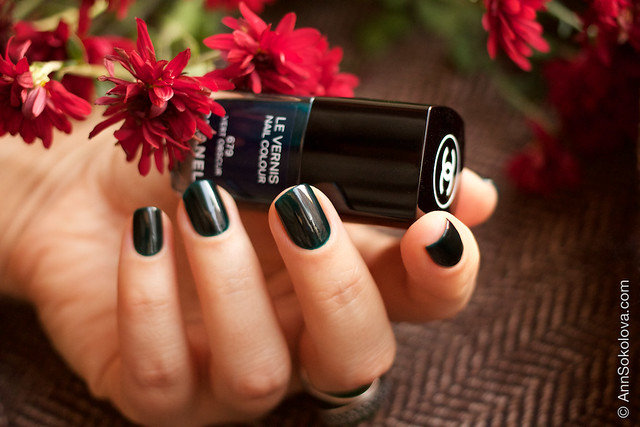 11 Chanel #679 Vert Obscur 2 coats swatches by Ann Sokolova