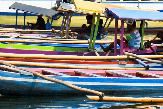 Outriggers. Manado harbor