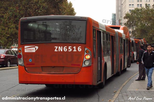 Transantiago - Express de Santiago Uno - Busscar Urbanuss / Volvo (ZN6516)