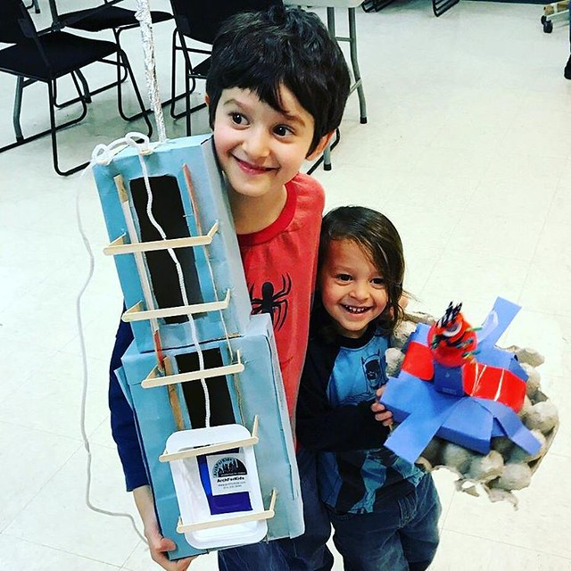 Wow - check out these cool #skyscrapers created at a #free workshop in # Midwood @bklynlibrary. Lots of free workshops in libraries across nyc www.archforkids.com/upcomingevents/  #libraryprogram #brooklyn #skyscraperdesign #futuredesigners #familyfun