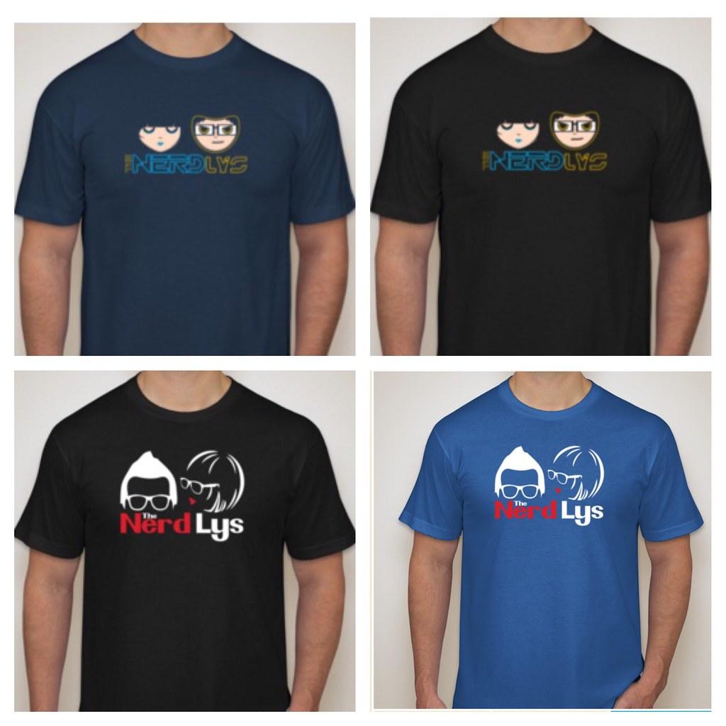 The Nerd Lys tee shirts