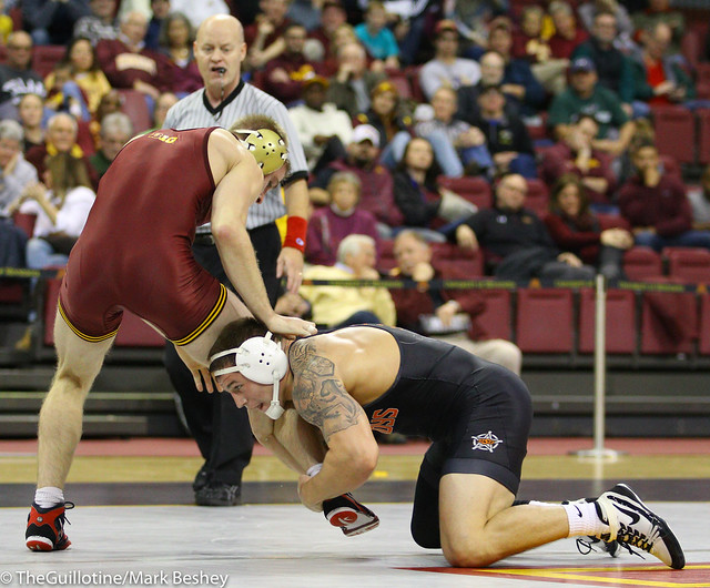 174 #4 Kyle Crutchmer (Oklahoma State) dec. #14 Nick Wanzek (Minnesota) 7-5