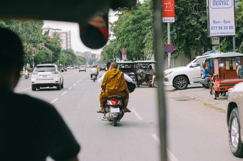 Monk on a motorbike