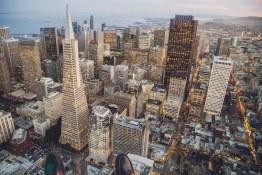 Vue de la ville de San Francisco- visites privees en français de San Francisco avec www.frenchescapade.com
