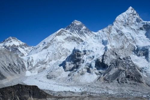 Everest, Lhotse, Khumbu Icefall, Khumbu Glacier