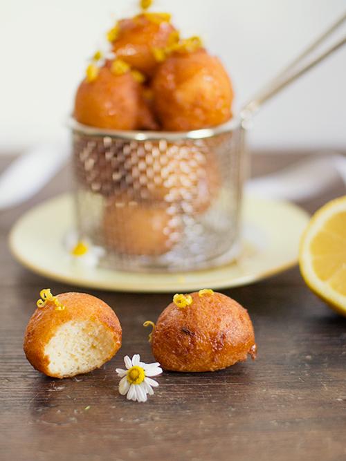 lemon chamomile doughnuts