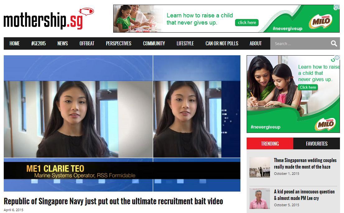 Singapore Navy girl 2