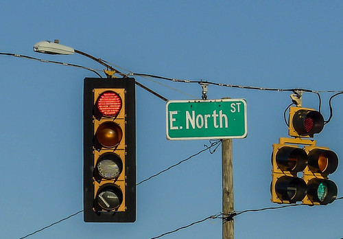 E. North Street Sign