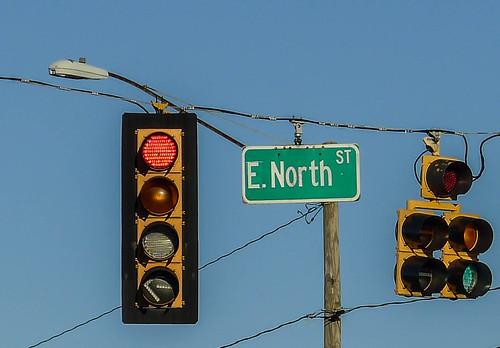 E. North Street Sign
