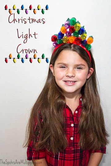 Christmas Light Crown