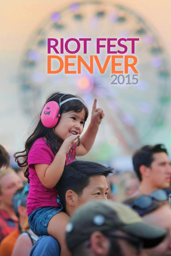 Young Girl enjoying Riot Fest Denver 2015