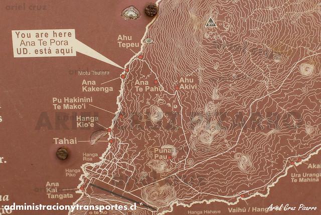 Mapa Ana Te Pora (Isla de Pascua)