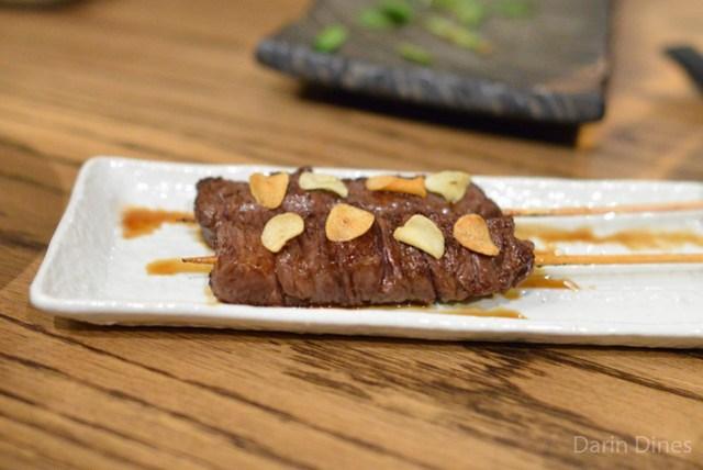 Kobe Beef Outside Skirt with Garlic