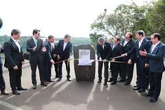Colocación de la piedra fundamental - Puente Internacional de la Integración