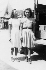 Two Young Women on Guam, 1944