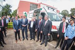 Entrega de 100 motocicletas a grupo Lince y 10 ambulancias a Salud