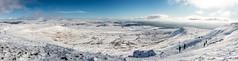 Yorkshire dales winter panorama