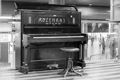 Piano at the train station