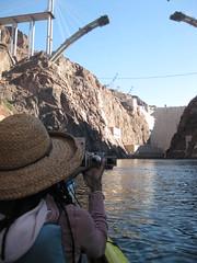 Bridge over the Hoover Dam (mid-construction)