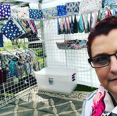 """The sun is finally making an appearance at the Chancellor's Sheep and Wool Showcase! We're here til 4! #chancellorsheepandwool #stitchedbyjessalu #handmade #projectbags for your #knitting or #crochet • <a style=""""font-size:0.8em;"""" href=""""http://www.flickr.com/photos/85938040@N00/47721947442/"""" target=""""_blank"""">View on Flickr</a>"""