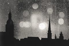 Winter. Riga, Latvia. Night