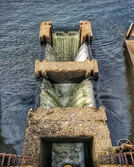 Water drain at the dam