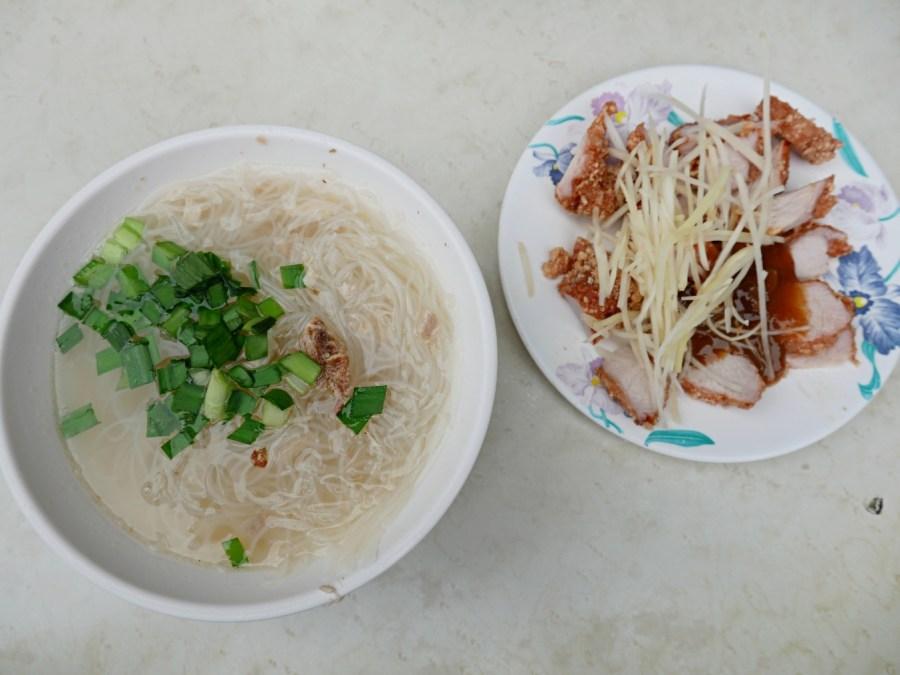[台北美食]雙連站小吃 民樂旗魚米粉~永樂市場對面在地銅板美食.激推酥炸紅燒肉 @VIVIYU小世界