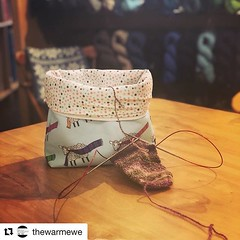 """#Repost @thewarmewe with @get_repost ・・・ They're here! @stitchedbyjessalu has just arrived with our Warm Ewe project bags! We have tall wedge bags (pictured here) and notions bags. For those that don't know, Jess took our logo and helped design this exclu • <a style=""""font-size:0.8em;"""" href=""""http://www.flickr.com/photos/85938040@N00/48020263841/"""" target=""""_blank"""">View on Flickr</a>"""