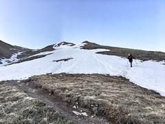Matt starts to ascend the Northwest Ridge route