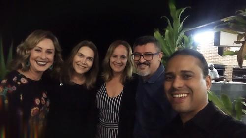 Raquel de Carvalho, Leida Horst, Dôra Chaves, José Roberto Gonçalves e Rudson Vieira
