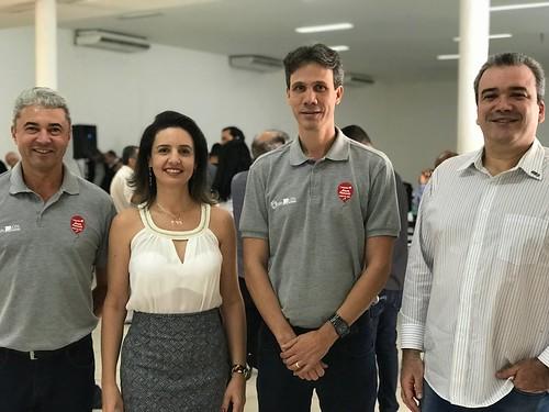José Carlos Alvarenga, presidente da CDL Ipatinga, Maria Angélica Rodrigues Nunes, presidente da Acicel, Cláudio Zambaldi, presidente da Aciapi, e Heine Quintão, presidente da Aciati