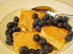 Sunday breakfast - Polenta, Maple syrup & Blueberries :)