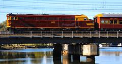 4490 trailing a steam train on Railway Bridge over Cooks River