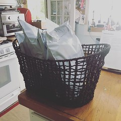 """Finally!! This basket is full of what was left of my preorders - I am so happy to finally get caught up!! Thank you all for your patience - now that I'm caught up, the shop will be reopening very soon!! #onewomanbusiness #sewingallthethings #stitchedbyjes • <a style=""""font-size:0.8em;"""" href=""""http://www.flickr.com/photos/85938040@N00/48139719157/"""" target=""""_blank"""">View on Flickr</a>"""