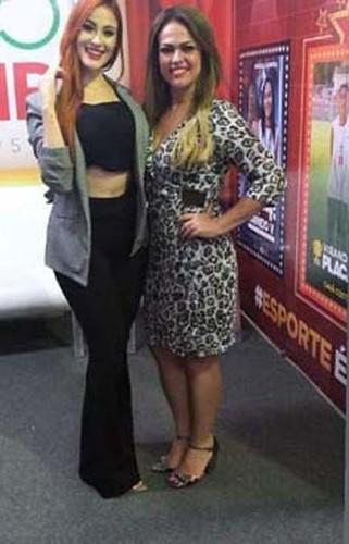 Sharon Morais e Luíza Elizabeth, coordenadora da Expo Usipa