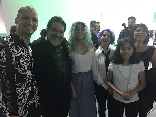 Joáo Cardoso, do Casa Laboratório, e a famiRodrigo Vieira e Andreia Magalhães, do Hotel Dom Henrique, em Timóteo, e as filhas