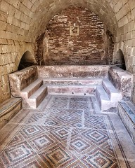 Cold bath with Mosaic floor
