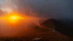 Fiery eye of the sunrise