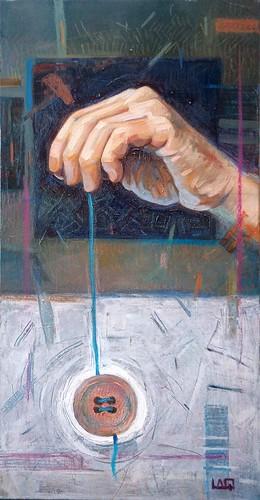 Eredità, olio su tela, 30x60 cm, 2019
