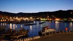 Rio Marina's port at nightHafen von Rio Marina bei Nacht