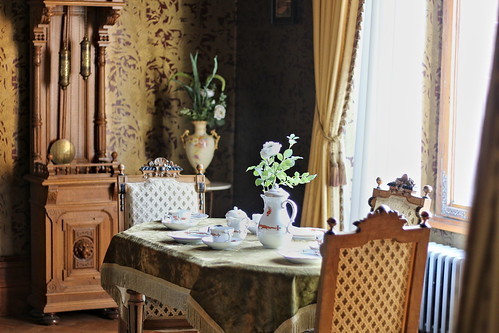 "Breakfast table, Drachenburg Castle - Bonn, Germany • <a style=""font-size:0.8em;"" href=""http://www.flickr.com/photos/104409572@N02/48739621256/"" target=""_blank"">View on Flickr</a>"