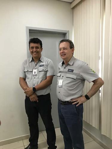 Henrique Santos, coordenador do projeto, e Túlio Chipoletti, vice presidente industrial da Usiminas