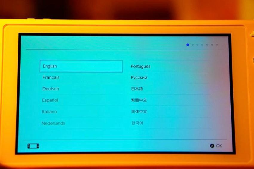 Switch Lite本体設定言語