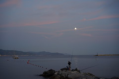 fishing in under the moon