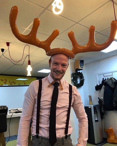 Today is all about...Can you tell it's the work Xmas party? I don't know what gives it away!