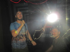Daniel Cassús Singing at Monster Ronson's Ichiban Karaoke