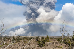 Kilauea volcano erupts yet again on the afternoon of May 25, 2018 in Pahoa, Hawaii, United States, sending ash and debris high up to the sky. (Photo by Yich​uan Cao/Sipa USA)